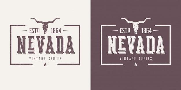 Strukturierter vintage-t-shirt- und bekleidungsentwurf des staates nevada,