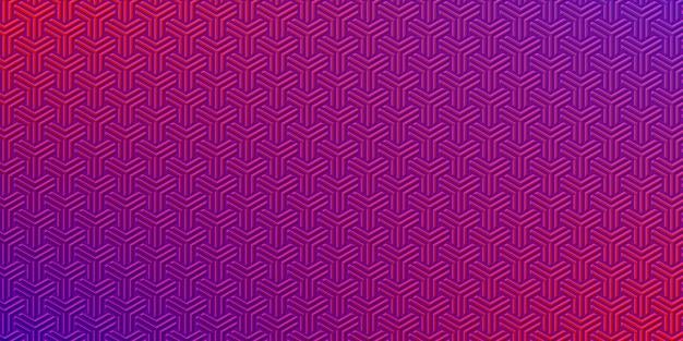 Strukturiertes abstraktes muster mit lila und roter farbkonkurrenz.