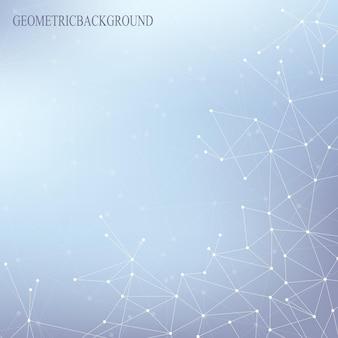 Strukturmolekül-atom-dna und kommunikationshintergrund. konzept der neuronen. verbundene linien mit punkten. illusionsnervensystem. medizinischer wissenschaftlicher hintergrund. vektor-illustration.