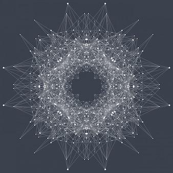 Strukturmolekül und kommunikation. dna, atom, neuronen. wissenschaftlicher molekülhintergrund für medizin, wissenschaft, technologie, chemie.