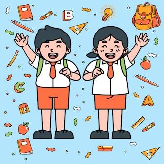 Student character cartoon school stationäre suplies