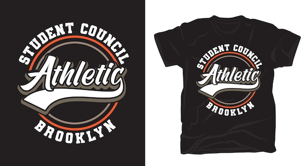 Student council athletic brooklyn typografie t-shirt design