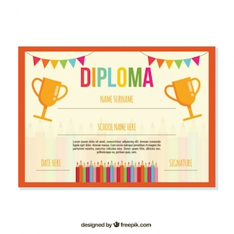 Student diplom-vorlage
