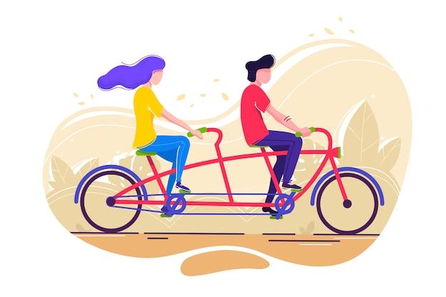 Student fahrrad fahren