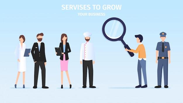 Student making business berufswahl herausforderung