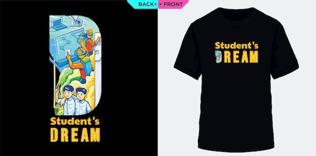 Studenten haben einen traum, der für den t-shirt-siebdruck geeignet ist