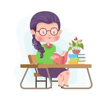 Studieren des niedlichen charakterkonzeptes illustrationsstudie zu hause