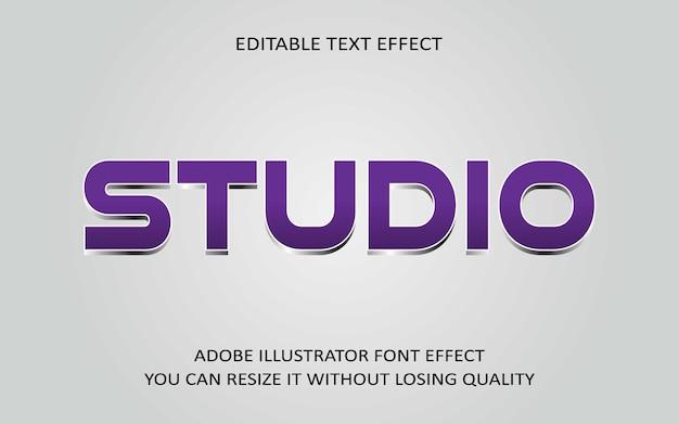 Studio bearbeitbarer text effekt