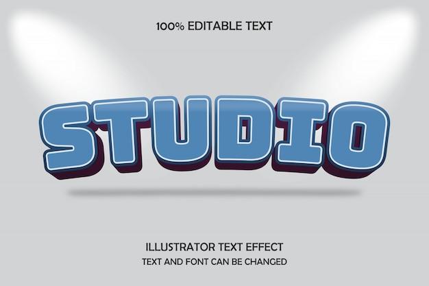Studio, bearbeitbarer texteffekt bogen schlagschattenstil
