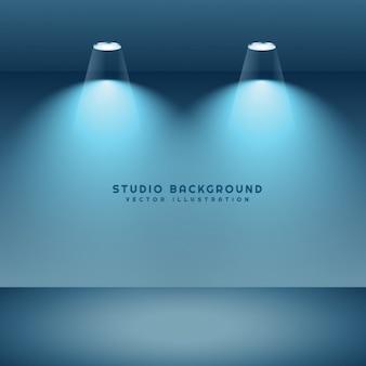 Studio-hintergrund mit zwei punktlichter