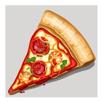 Stück pizza