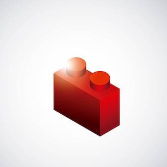 Stück spiel-symbol. spieldesign. vektorgrafik