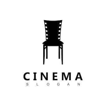 Stuhl, kino-logo-design-vorlage