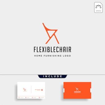 Stuhl logo isoliert