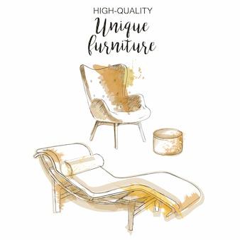 Stuhl lounge möbel set