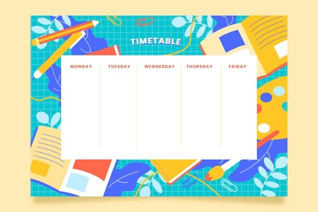 Stundenplan für den schulanfang