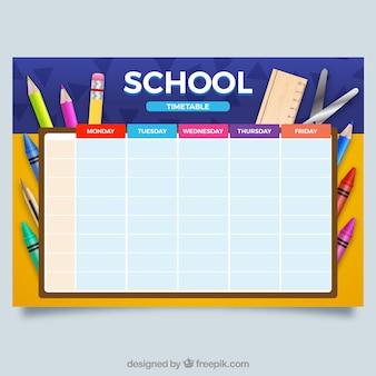 Stundenplan für die organisation von aktivitäten