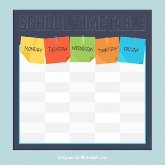 Stundenplan mit notizen