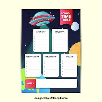 Stundenplan mit ufo