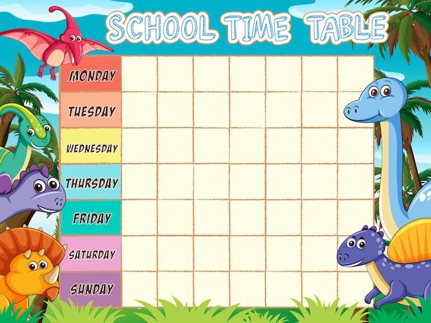 Stundenplan vorlage