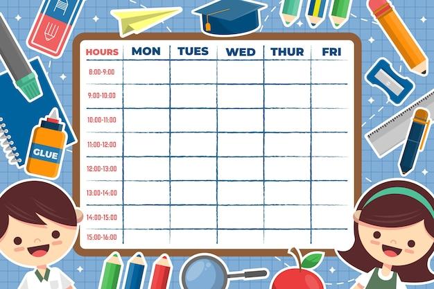 Stundenplankonzept für den schulanfang