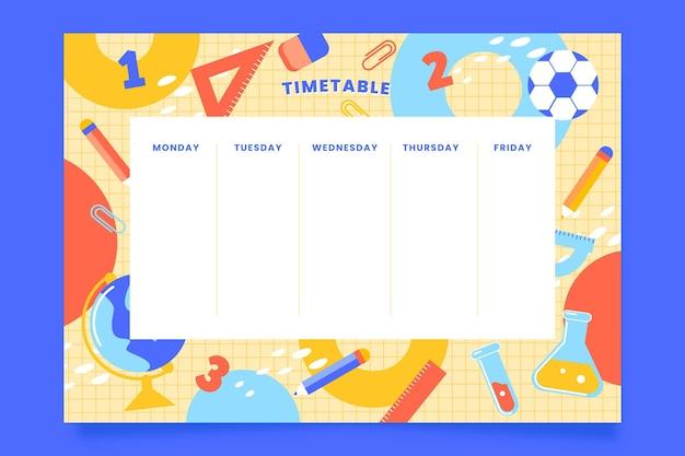 Stundenplanvorlage für den schulanfang