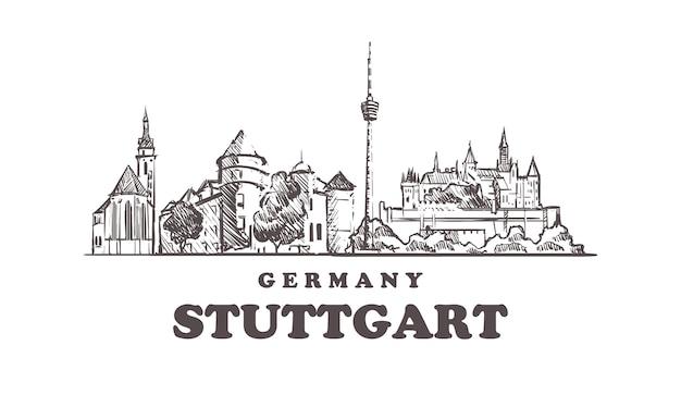Stuttgarter stadtbild, deutschland