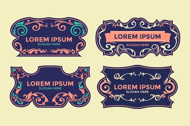 Style border template mit verziertem rahmen