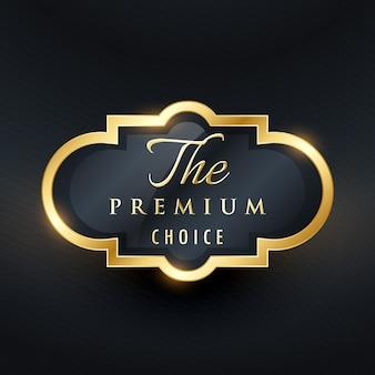 Stylisches premium-label-design
