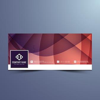 Stylish elegantes facebook banner design