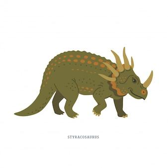 Styracosaurus dinosaurier.