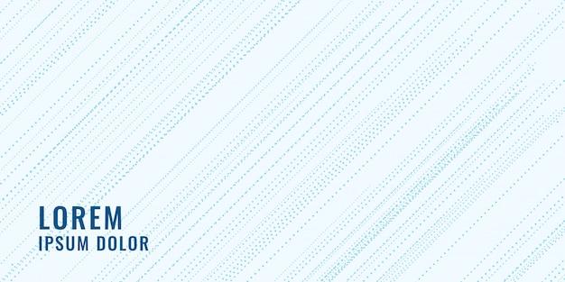 Subtile blaue diagonale punkte linien hintergrund