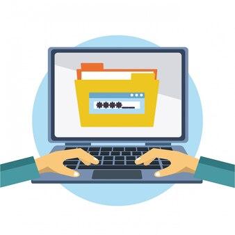 Suche der computerdatenbank