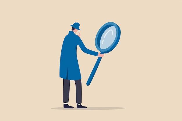 Suche entdecken analysebericht oder spezialist untersuchen
