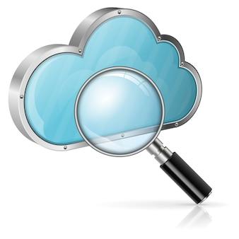 Suche im cloud-computing-konzept