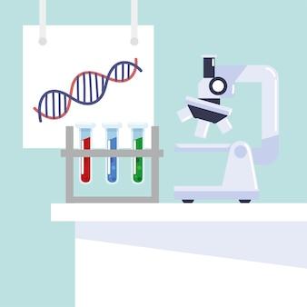 Suche im labor für gentechnik