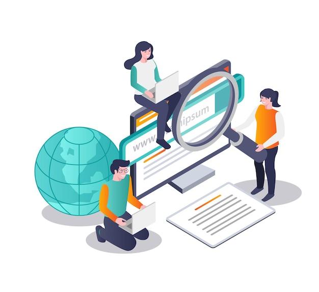 Suche nach informationen aus der welt im internet