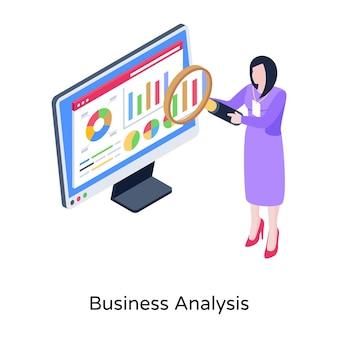 Suche nach isometrischer darstellung der datengeschäftsanalyse
