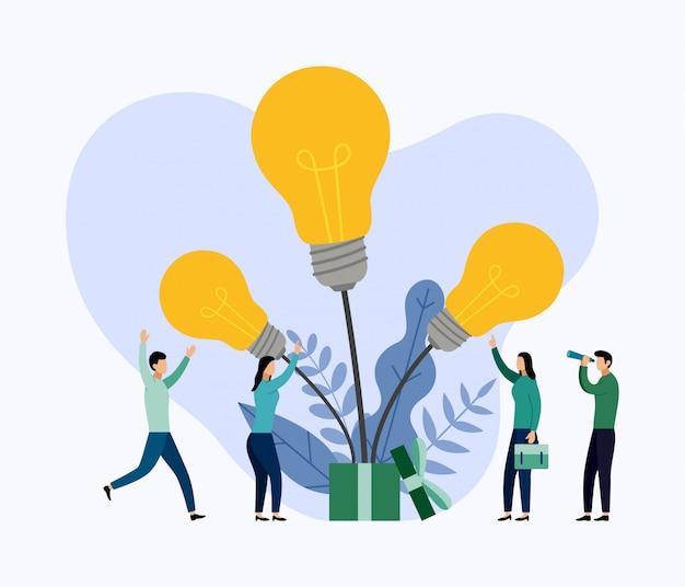 Suche nach neuen ideen, treffen und brainstorming