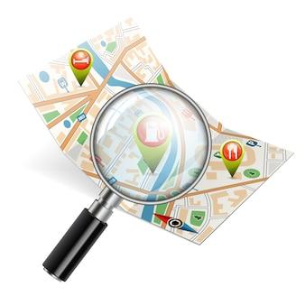 Suche nach objekten auf der karte