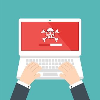 Suche nach sicherheitslücken. seo-optimierung, webanalyse, programmierprozesselemente. it-sicherheitskonzept. illustration.
