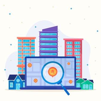 Suchkonzept für immobilien