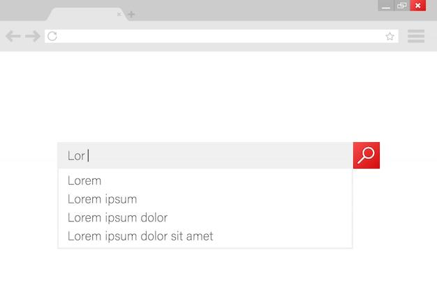 Suchleiste vektorelement design. set suchstabkästen. ui-interface-vorlage.