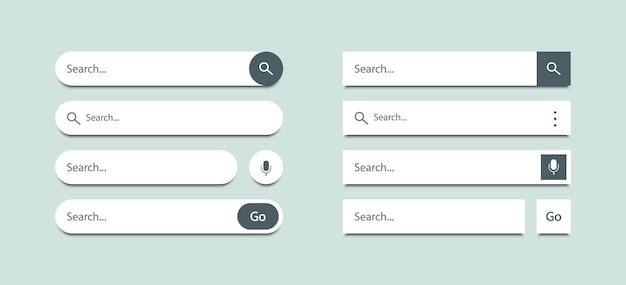 Suchleiste vorlagen design-set für ui