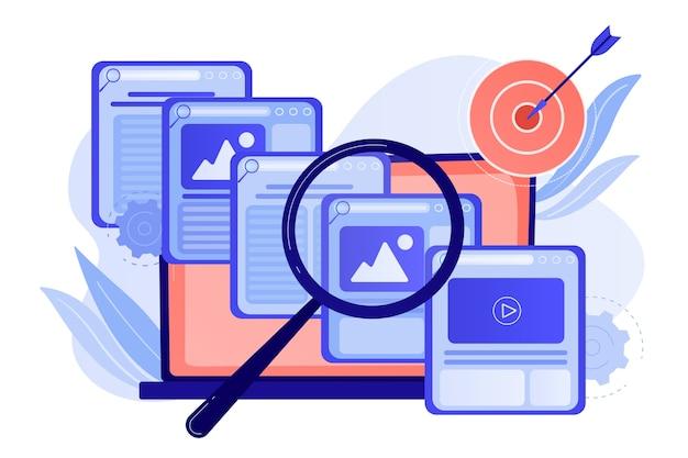 Suchmaschinen-marketing-geschäft. textservice, content management