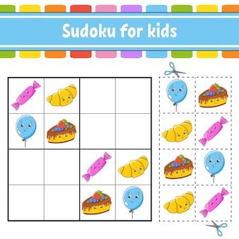 Sudoku für kinder arbeitsblatt zur entwicklung von bildung