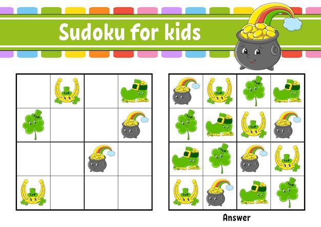 Sudoku für kinder bildungsarbeitsblatt