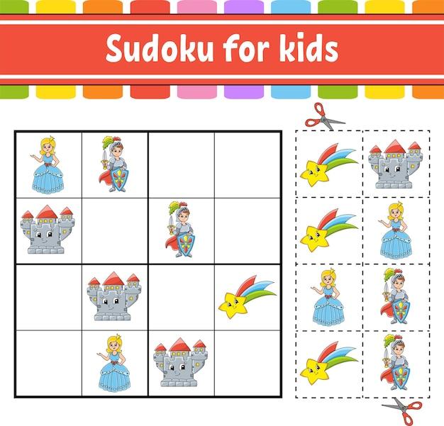 Sudoku für kinder märchenthema