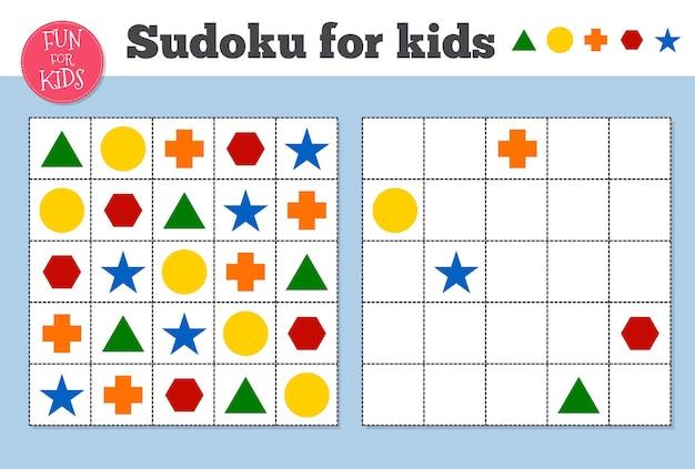 Sudoku. mathematisches mosaik für kinder und erwachsene. magisches quadrat. logik-puzzlespiel. digitaler rebus. vector illustration pädagogische kinder sudoku spiel vorschule unterhaltung arbeitsblatt. druckbares puzzle.