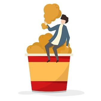 Süchtig nach junk food und snacks